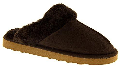 Footwear Studio , Chaussons pour femme Brun Chocolat