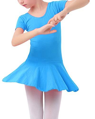 Mengmiao Kinder Mädchen Klassisches Ballerina Kinderkostüm Tutu See-Blau1 120