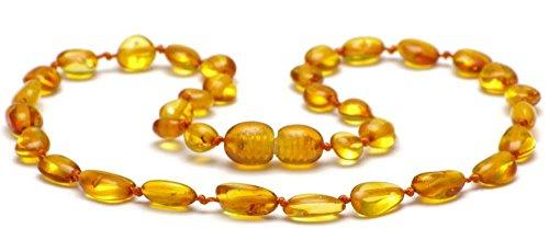 Bernsteinkette - Baltische Bernstein Perlen der höchsten Qualität mit Echtheits-Zertifikat - 100 Tage 100% Zufriedenheitsgarantie
