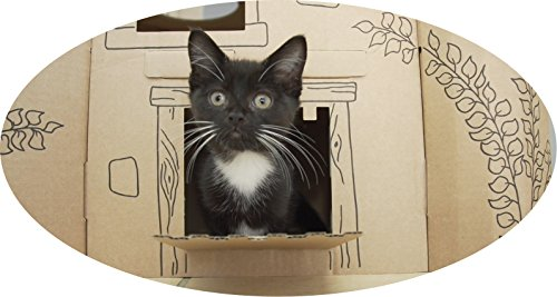 Smartbedz Cardboard Pet Castle 3
