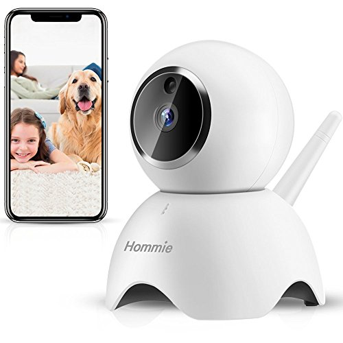 Hommie 1080P HD WiFi Hause Überwachungskamera Wireless Indoor Kamera mit Nachtsicht Bewegungserkennung Heimsicherheit Überwachung für Baby, Elder, Pet