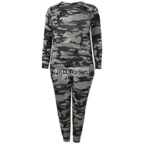 H&F Girls ® Damen Trainingsanzug Gr. 52-54, Full Camo