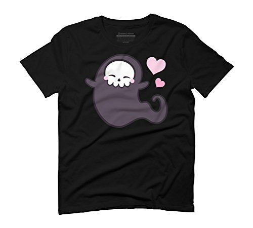 Love Ghost Men's Graphic T-Shirt - Design By Humans Black