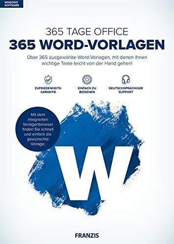 FRANZIS 365 Word-Vorlagen Word Über 365 ausgewählte Word-Vorlagen Microsoft Word 2016 / 2013 / 2010 / 2007 / 2003 / 2002 / 2000 / 97 Windows® 10/8.1/8/7 Disc Disc