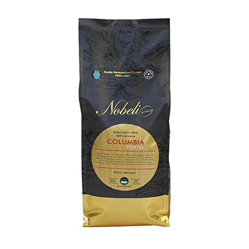 Colombia único orgin Orgánica tostado grano especialidad Gourmet café, 907g, Peso Neto (907)