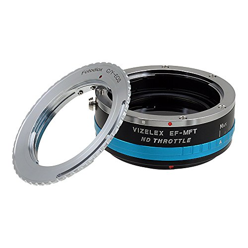Vizelex ND Throttle Lens Mount Adapter from Fotodiox Pro - Contax/Yashica (CY, C/Y) Lens to Micro-4/3 Mount Cameras (such as OM-D E-M10, Lumix GH4, and Black Magic Pocket) - with Built-In Variable ND Filter (ND2-ND1000)