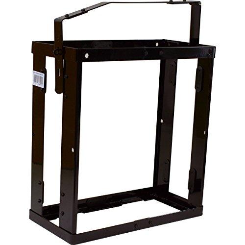 Halterung für Stahlblechkanister 20 Liter schwarz, abschliessbar Metallkanisterhalterung 20L