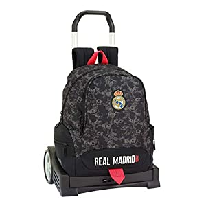41IgAI5poKL. SS300  - Real Madrid CF Mochila con Carro Ruedas Evolution, Trolley.