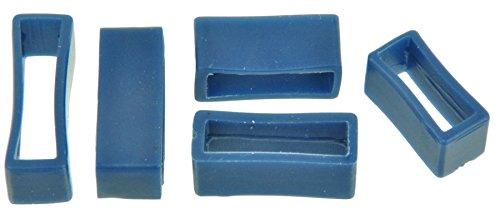 PVC Taucher Uhrenarmband Schlaufen Blau 16-18-20-22-24mm Armband Band Keepers 24mm