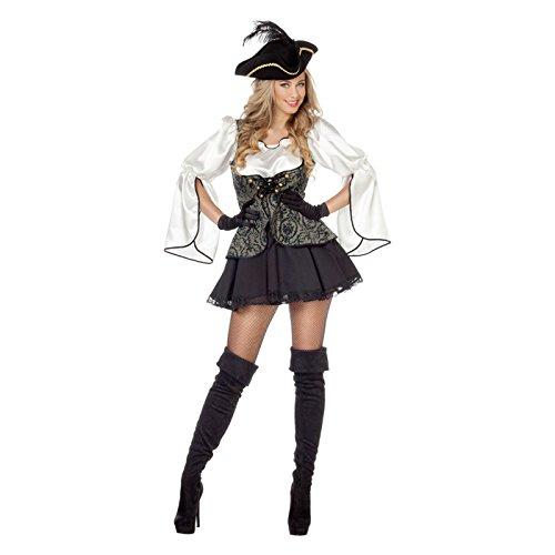 NEU Damen-Kostüm Piratin Elaine, Gr. (Meeres Kostüme Des Königin)