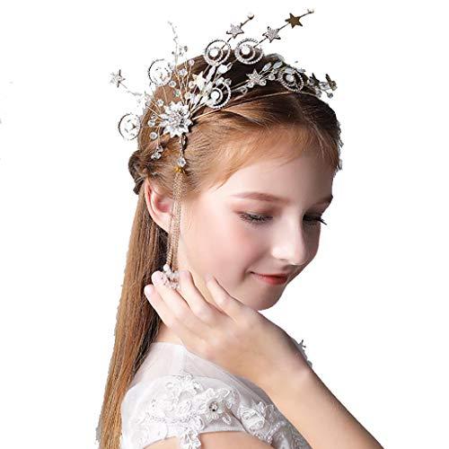 ZCM Mädchen Stirnband, Prinzessin Kopf Blume Koreanische Quaste Modell Catwalk Show Zubehör