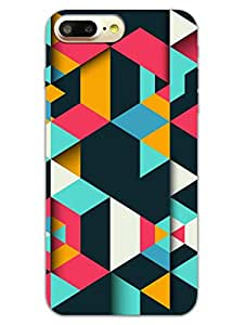 iPhone 7 Plus Cases & Covers - Colourful Dark Geomatric Pattern - Designer Printed Hard Shell Case