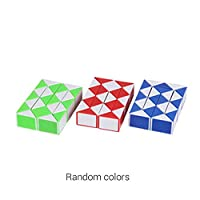Fantasyworld 24 Wedges Magic Ruler Mini Magic Twist Puzzle Cube Game Twisty Toy Educational Cube Toy Gift for Children Adult - Random