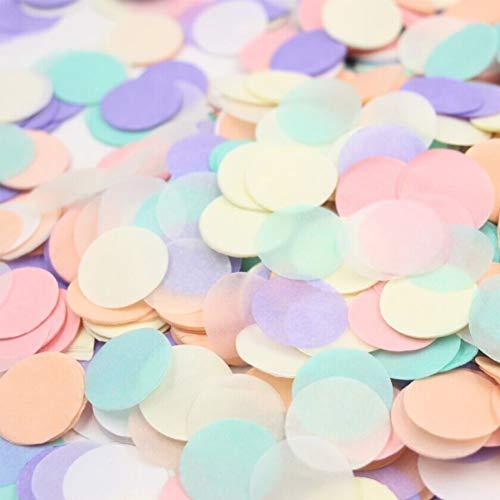 5Packungen Pop Rose Gold Konfetti, rund Pailletten Table Flower Ballon Klassenzimmer Dekorationen Konfetti Sprinkle, für Hochzeit Urlaub Jahrestag Geburtstag, 1cm