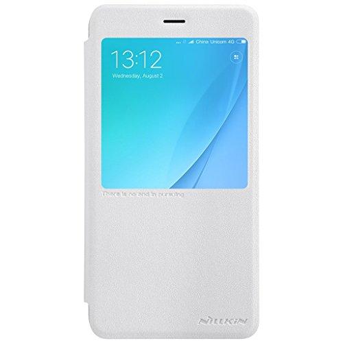 XiaoMi RedMi Note 4X Tasche Hülle - Glänzen Flip Schutzhülle für XiaoMi RedMi Note 4X - Gold Weiß