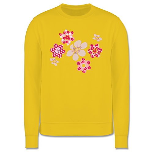 Blumen & Pflanzen - Blumen - Herren Premium Pullover Gelb