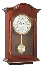Idea Regalo - London Clock 25054 -  Orologio a pendolo da parete, finitura in noce, con rintocco