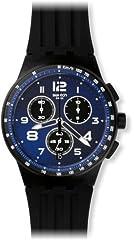 Idea Regalo - Swatch Orologio Unisex Cronografo al Quarzo con Cinturino in Silicone – SUSB402