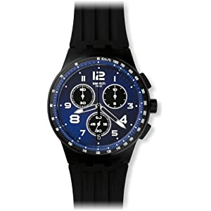 Swatch Unisex Chronograph Quartz Watch with Silicone Bracelet – SUSB402