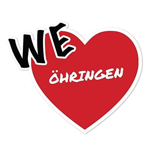 JOllify Aufkleber - ÖHRINGEN – Farbe: Design: We love - Wir lieben