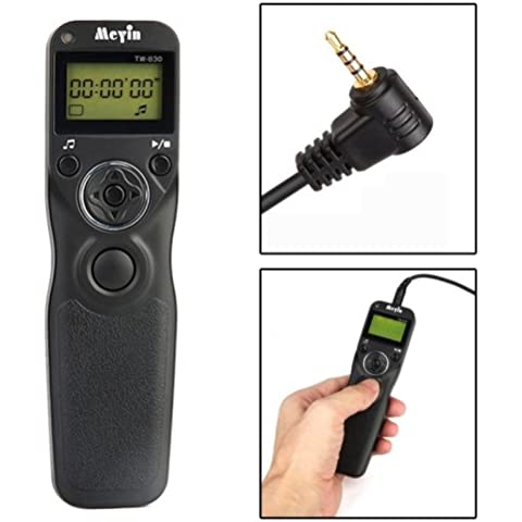 Mando a distancia con intervalómetro/temporizador disparador remoto Panasonic DMC-FZ50/DMC-FZ50K/DMC-FZ50S/DMC-FZ30/DMC-FZ150/DMC-FZ30K/Dmc-Fz30S, Leica Digilux 2/Digilux 3(TW-830/L1)