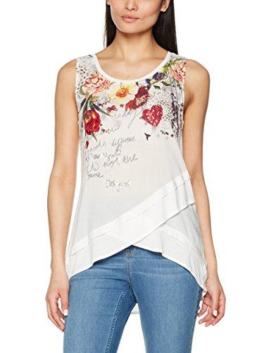 Desigual TS_Babette, Camiseta para Mujer, Blanco (White 1000), Medium