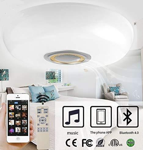 LED Deckenlampe 60W Beleuchtung Modern Smart Deckenleuchte dimmbar Bluetooth Wandlampe BT60 Gold
