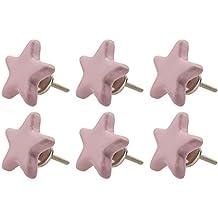 6x Perillas De Muebles por Mayor-rosa GH9 R8-837 star pink K21