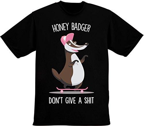 Honey Badger Don't Give A Sh*t Herren T-Shirt Extra Large (Sleeve Shirt Sh)