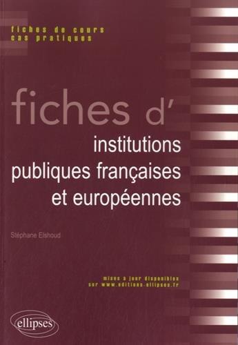 Fiches d'Institutions Publiques Franaises et Europennes