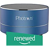(Renewed) Photron P10 Wireless 3W Super Bass Mini Metal Aluminium Alloy Portable Bluetooth Speaker with Mic (Blue)