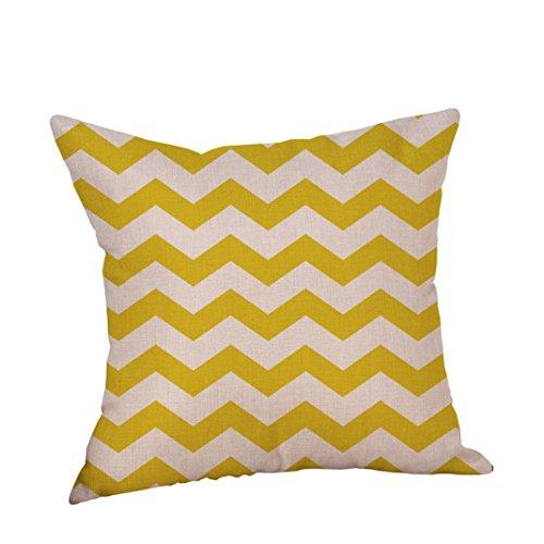 Kavitoz Hot Sale! Pillow Case, Decorative Pillow Cover Mustard Yellow Geometric Fall Autumn Cushion Cover 45cmx45cm By (B)