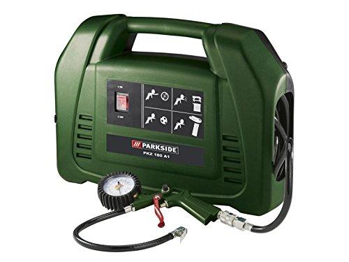 Tragbarer Parkside Kompressor PKZ 180 A1 1,1 kW 1,5 PS Ausblasen Füllen Zubehör