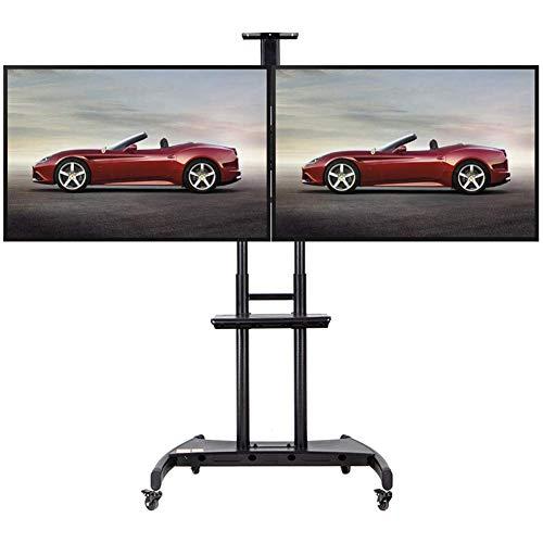 KBKG821 Universal TV Wagen, Boden-TV-Ständer Halterung für 40-70 Zoll LCD-LED-Fernseher 360º von Swivel, Möbel Flat Panel TV-Ständer -
