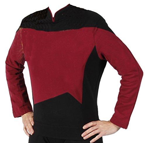 Star Trek Next Generation Uniform - super deluxe Baumwolle (XX-Large, rot)