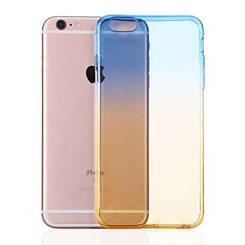 MicBridal® coque TPU pour Apple iphone 6plus, iphone 6splus coque transparente Silicone ultra fine case étui Housse Protecteur cover écran 5,5 pouces Bleujaune
