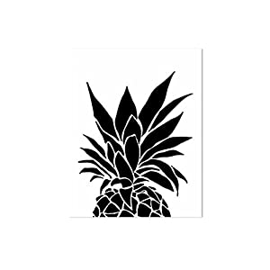 uyhghjhb Elegante Ananas ohne Rahmen Wandkunst Poster Haus Hotel Dekoration Ornament 21x30cm