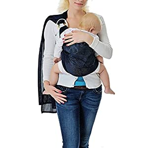 Kangaroobaby® Breathable Carrier Adjustable Ring Water sling for Newborn Baby (Deep Blue)   8
