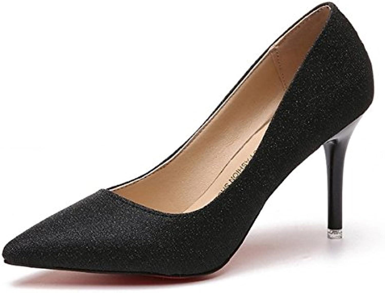 DIMAOL Damenschuhe Gummi Sommer Herbst Komfort Heels Low Heel Schuhe für Outdoor Champagner Rosa Schwarz