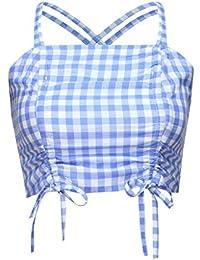 Mujeres Plaid Impresión Casual Manga Larga Pullover Camisas Tops Blusa