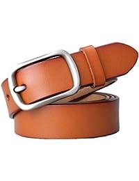 Cinturon de mujer Cinturón casual de cuero de mujer Cinturón fino  decorativo Cinturón de hebilla simple 38db4c8b91bc