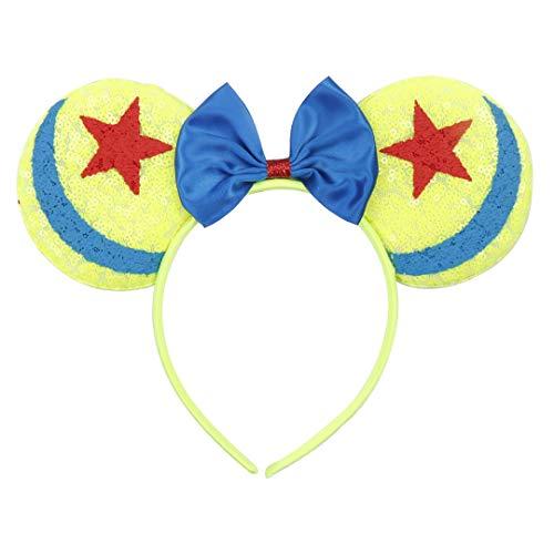Cartoon Haarschleife Haarband Mit Gedruckt Pailletten Ohren Haarband Hoop Holiday Festival Party Kinder Haarschmuck 2 -
