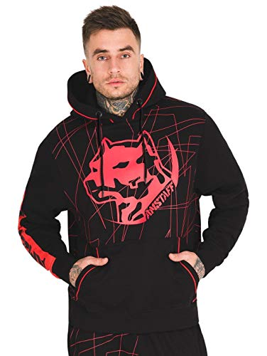 Amstaff Capkin Männer Kapuzen Pullover schwarz 3XL
