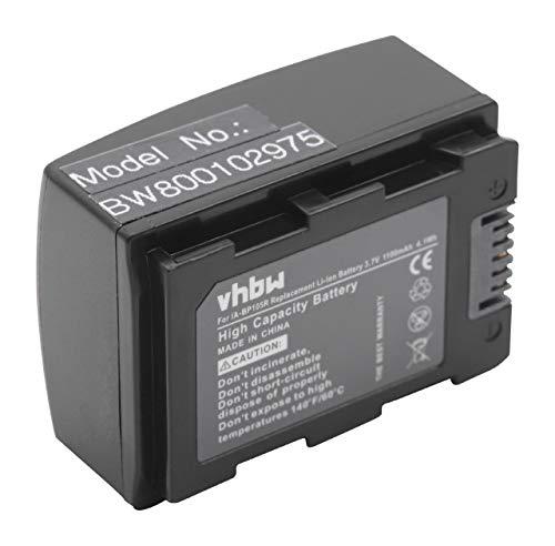 vhbw Li-Ion Akku 1100mAh (3.7V) für Kamera, Video, Camcorder Samsung SMX-F50, HMX-F50BN, SMX-F50BP, SMX-F54, SMX-F70, HMX-F80, HMX-H305 wie IA-BP105R. Li-ion Camcorder-akku