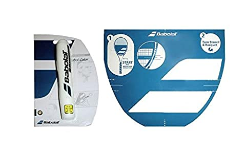 Babolat Tennis Racket String Stencil and Ink Marker (White Ink