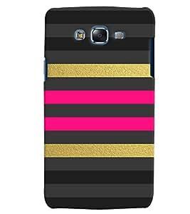 Citydreamz Black Pink Golden Stripes Hard Polycarbonate Designer Back Case Cover For Samsung Galaxy J2