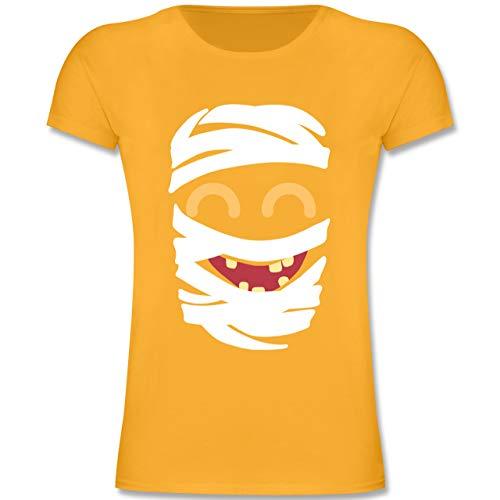 Kostüm Mädchen Mumie Kids - Karneval & Fasching Kinder - Mumie Karneval Kostüm - 104 (3-4 Jahre) - Gelb - F131K - Mädchen Kinder T-Shirt