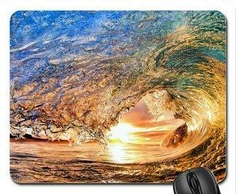 Sonnenuntergang-Wellen-Hawaii-Mausunterlage, Mousepad (Ozeane-Mausunterlage) MP8102