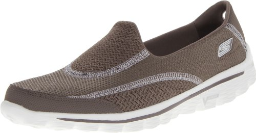 Skechers Damen Go Walk 2Spark Sneakers, Grau (TPE), 36 EU -