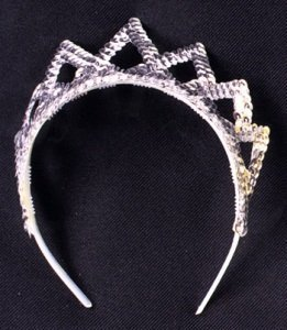 Jacobson Hat Company 7 Point Sequin Tiara, Silver by (Company Hat Jacobson)